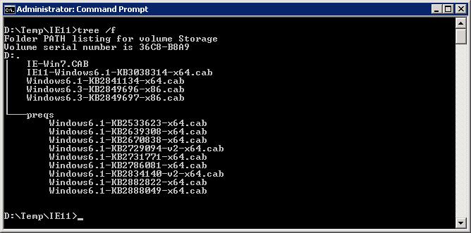 Internet Explorer 11 installeren inclusief prerequisites